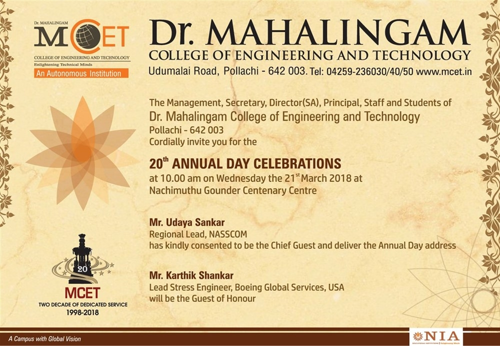 20th Annual Day Celebrations