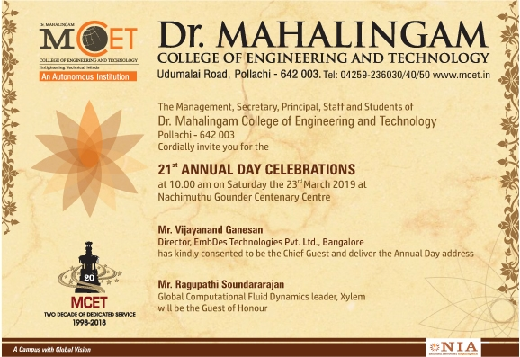 21st Annual Day Celebrations of MCET