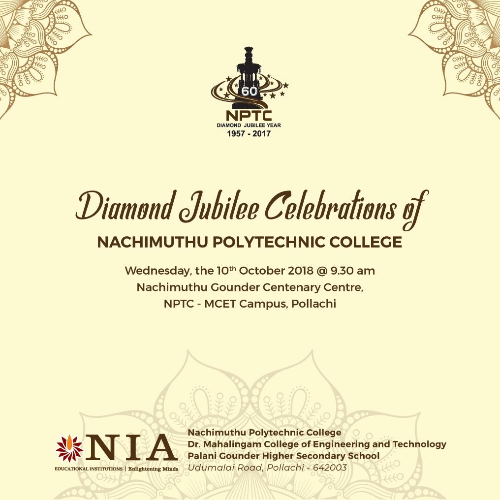 Diamond Jubilee Celebrations of NPT