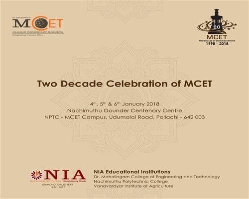 Two Decade Celebration of MCET
