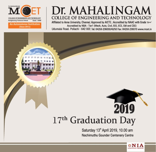 17th Graduation Day ceremony of the MCET's 2018 passed out batch students