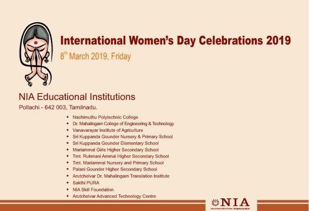International Women's Day Celebrations 2019